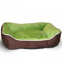 K&H Self-Warming Lounge Sleeper самосогревающийся лежак для собак и котов зеленый/желто-коричневый | S