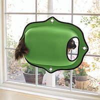K&H EZ Mount Window Pod спальное место-домик на окно для котов зеленый