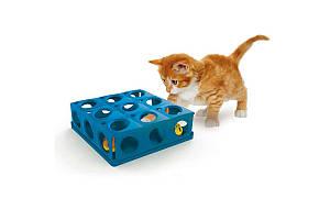 Іграшка Georplast Tricky з кулькою для кішок, 25 × 25 × 9 см