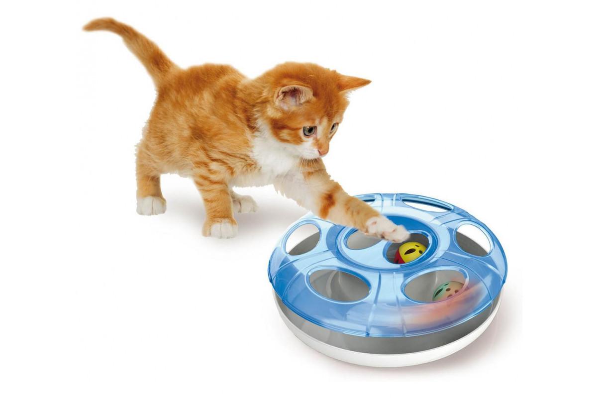 Игрушка два мяча Georplast Ufo для кошек, 25 x 8 см