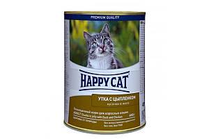 Консерва Happy Cat Dose Ente & Huhn Gelee для дорослих кішок вагою близько 4 кг, з качкою і курчам, 400 г