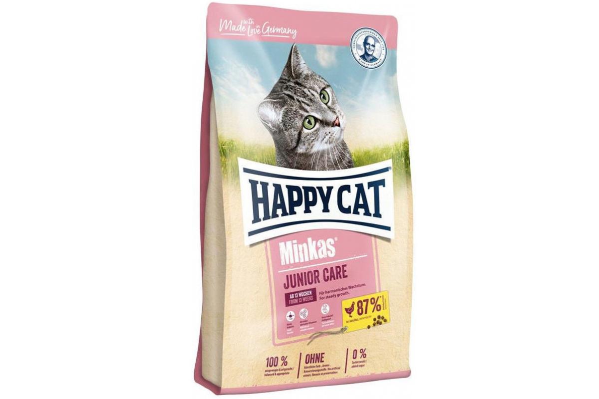 Сухой корм Happy Cat Minkas Junior Care 500 г для котят, со вкусом птицы