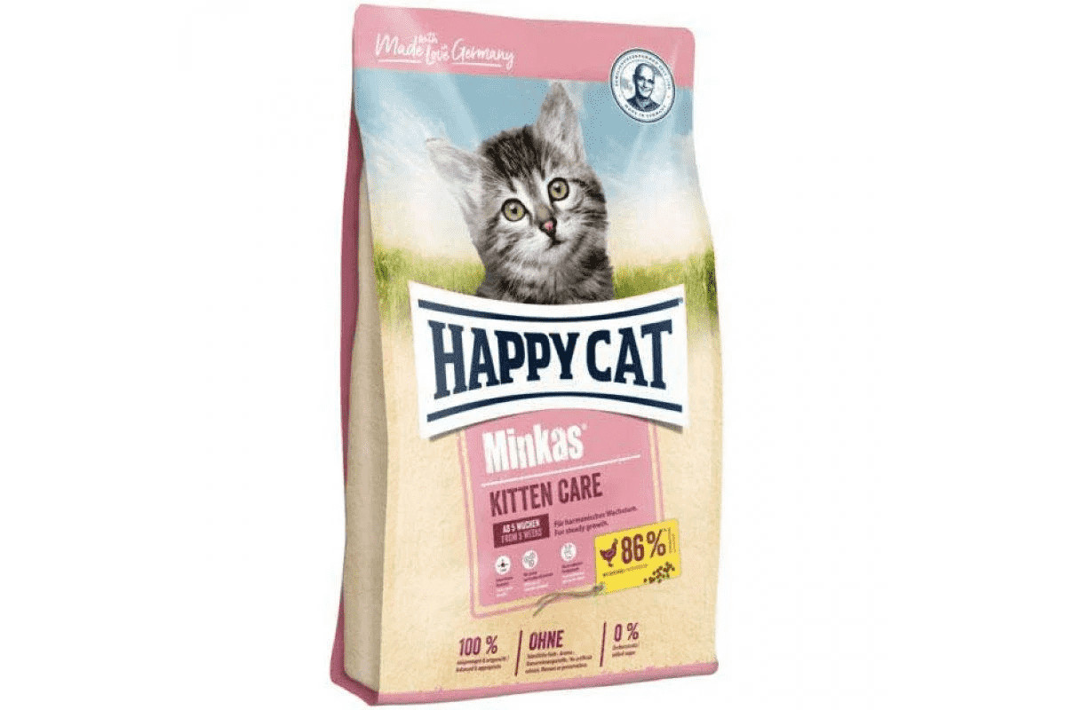 Сухой корм Happy Cat Minkas Kitten Care Gefl 10 кг для котят от 4 недель до 4 месяцев, со вкусом птицы
