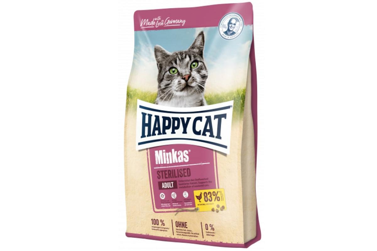 Корм Happy Cat Minkas Sterilised 1.5 кг для взрослых стерилизованных кошек и кастрированных котов