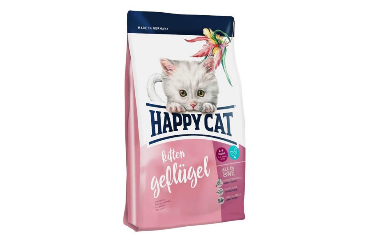 Корм Happy Cat Supreme Kitten Geflugel 4 кг для кошенят від 5 тижнів до 6 місяців, зі смаком птиці