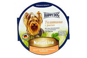 Вологий корм Happy Dog NaturLine для дорослих собак до 10 кг з чутливим травленням, з телятиною, 85 г