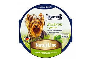 Вологий корм Happy Dog NaturLine для дорослих собак до 10 кг з чутливим травленням, з ягням, 85 г