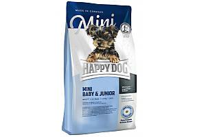 Корм Happy Dog Mini Baby & Junior 8 кг для щенков мелких пород, от 4 до 12 недель, со вкусом птицы