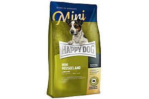 Корм Happy Dog Mini Neuseeland 8 кг для взрослых собак малых пород с чувствительным пищеварением, с ягненком