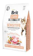 Корм для котів з чутливим травленням Brit Care Cat GF Sensitive HDigestion & Delicate Taste 2 кг