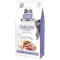 Brit Care Cat GF Sterilized Weight Control 7 кг - Корм для стерилізованих котів із надмірною вагою