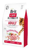 Корм Brit Care Cat GF Adult Activity Suppor 2 кг для кошек живущих на улице