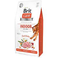 Корм Brit Care Cat GF Indoor Anti-stress 7 кг для котів які постійно перебувають у приміщенні