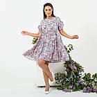 Платье летнее батал NOBILITAS 42 - 52 сиреневое штапель (арт. 21020), фото 4