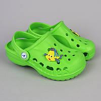 Детские зеленые кроксы Crocs тм Vitaliya р.22-23,23-24,26-27,28-29, 29-30,31-32,32-33