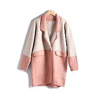 Женское модное шерстяное пальто-кардиган