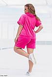 Велюровый спортивный костюм с шортами и кофтой размер : 48-50, 52-54, 56-58, фото 2