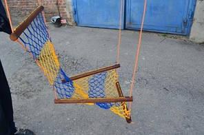 "Гамак ""ЛИАНА"" - сидячий плетёный Размер: 100х0,6 см, шнур: 3 мм. Украина"