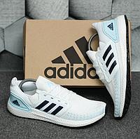 Мужские летниекроссовки Adidas Ultra boost White / Обувь Адидас белые новинка сетка повседневные легкие