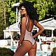Жіночий цільний купальник з люрексом, фото 7
