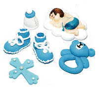 Цукрова прикраса для торта Хрестильний набір для хлопчика