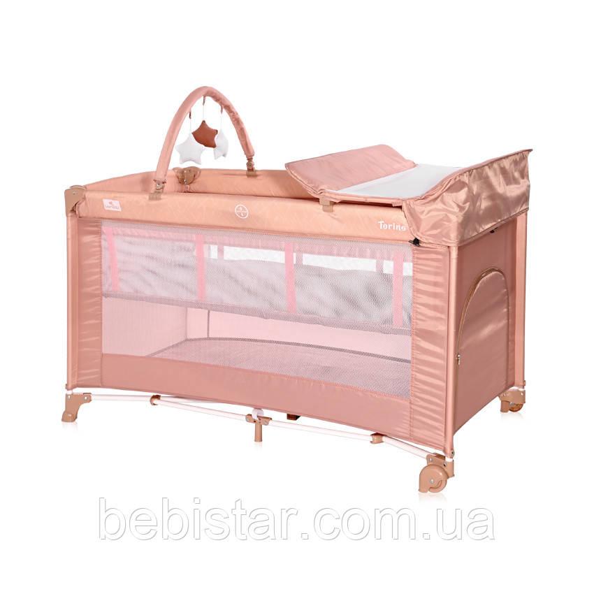 Кровать-Манеж Lorelli Torino 2 Layer Plus с пеленальным столиком и дуга с игрушками