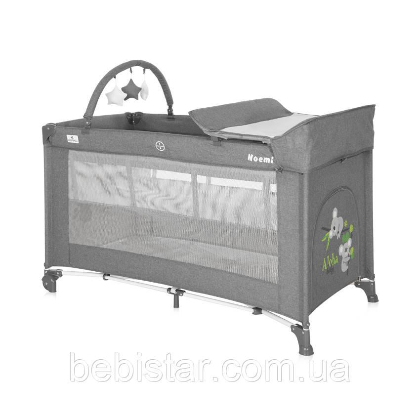 Кровать-манеж Lorelli Noemi 2 Layers Plus с двойным дном и пеленальным столиком