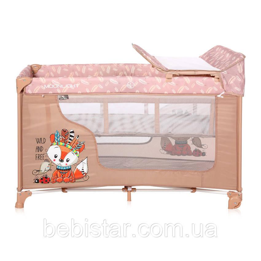 Ліжко-манеж Lorelli Moonlight 2 Layers від народження до 3 років