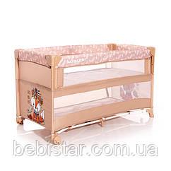 Кровать-манеж Lorelli UP and DOWN на колесах для сна и игр от рождения до 3 лет