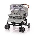 Детская коляска для двойни Lorelli Twin Сине-бежевый Серый, фото 2