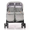 Детская коляска для двойни Lorelli Twin Сине-бежевый Серый, фото 3