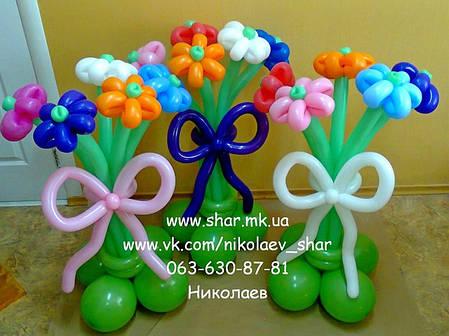 Букеты из 5 цветков на подставке, фото 2
