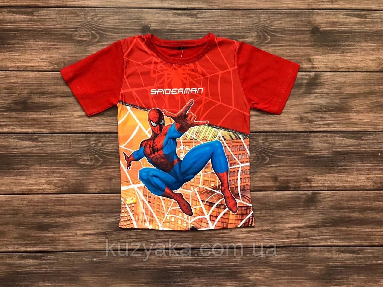Дитяча футболка для хлопчика Людина павук на 1-10 років