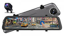 "Дзеркало - відеореєстратор Phisung S11, екран 12"", 2560x1440p, Sony IMX335, SUPER night vision"