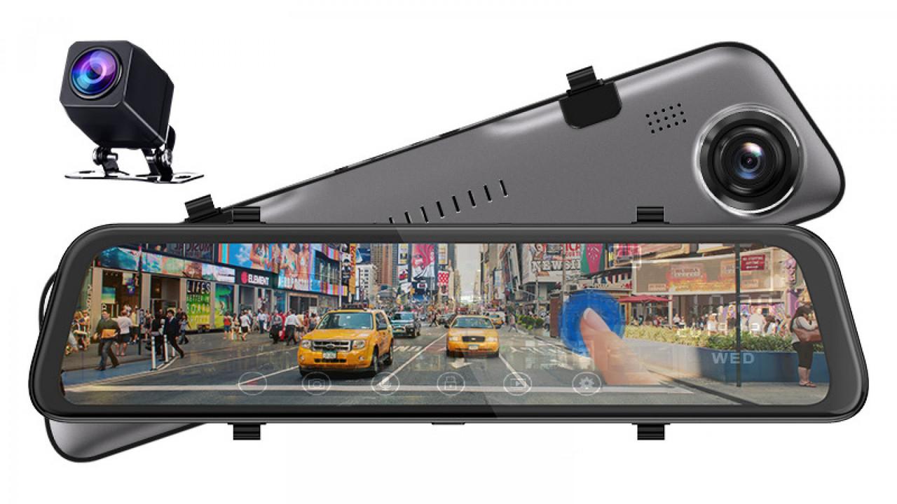 "Зеркало - видеорегистратор Phisung S11, экран 12"", 2560x1440p, Sony IMX335, SUPER night vision"