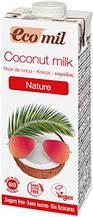 Органічне рослинне молоко з кокосу без цукру 200мл TM EcoMil