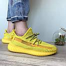 Жіночі кросівки Adidas Yeezy Boost 350 V2 Yellow Full Reflective, фото 5