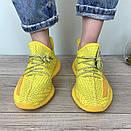 Жіночі кросівки Adidas Yeezy Boost 350 V2 Yellow Full Reflective, фото 6