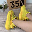 Жіночі кросівки Adidas Yeezy Boost 350 V2 Yellow Full Reflective, фото 7