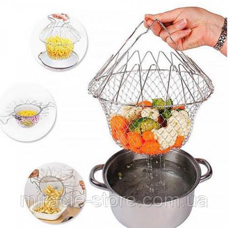 Складна сітка - друшляк Magic Kitchen Chef Basket, фото 2