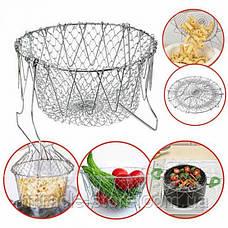 Складна сітка - друшляк Magic Kitchen Chef Basket, фото 3