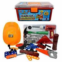 Набор инструментов чемодан с каской (ОПТОМ) 2058