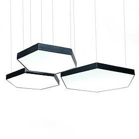 Світильник з Алюмінієвого LED Профілю Сота 54W (600х500х60мм)