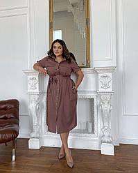 Платье-Рубашка Камелия кофе