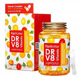 Ампульная сыворотка с витаминным комплексом FarmStay Dr-V8 Vitamin Ampoule, 250 ml