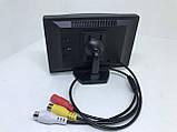 Цветной автомобильный монитор 5'' с 2-мя видеовыходами для камеры заднего вида, фото 3