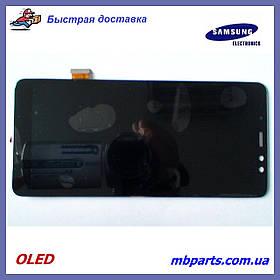 Дисплей с сенсором Samsung A730 Galaxy A8 Plus 2018 OLED, Black!