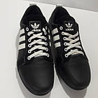 Кроссовки Adidas р.45 кожа Харьков чёрные, фото 6