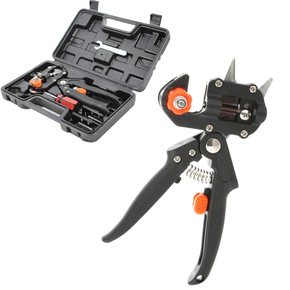 Садовые ножницы для прививки в чемодане Профессиональный прививочный секатор с 3 ножами для обрезки
