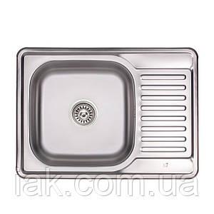 Кухонна мийка Lidz 6950 Micro Decor 0,8 мм (LIDZ6350MDEC)